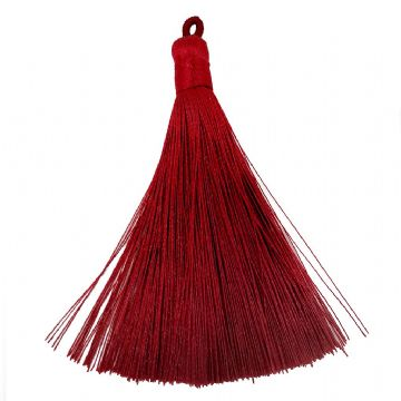 Large Deep Red Tassel